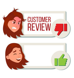 customer review positive negative review vector image