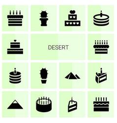 desert icons vector image