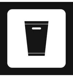 Dustbin icon simple style vector