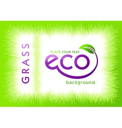 eco green grass background vector image
