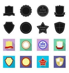 emblem and badge symbol vector image