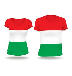 Flag shirt design of Hungary vector image