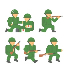 Flat design world war 2 soldier vector
