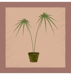 Flat shading style plant Cyperus vector