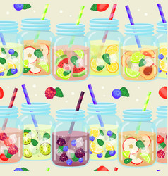 Fresh drinks pattern vector