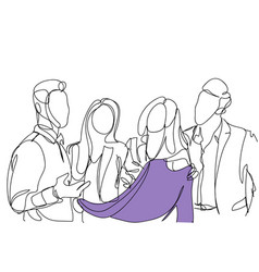 friends group choosing clothes sketch people vector image