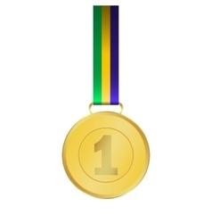 Gold medal winner vector image