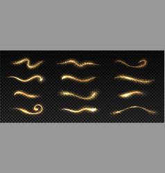 gold sparkles golden shining stardust texture vector image
