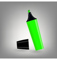 Green marker icon vector image