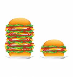 Hamburgers vector