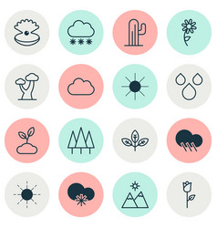 Harmony icons set collection plant sunshine vector