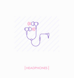 headphones outline icon isolated vector image