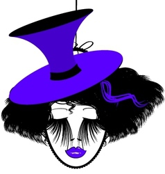 image of black-purple dame vector image vector image