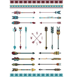 Indian arrows for hipster decor vector image