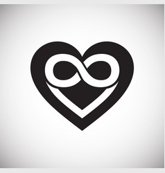Infinity heart icon on white background for vector