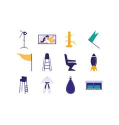 Isolated movie icon set design vector
