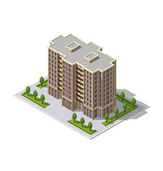 Isometric 3d building tower vector