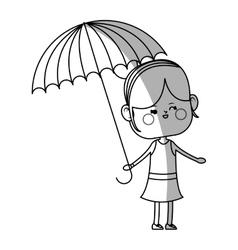Kawaii girl icon vector