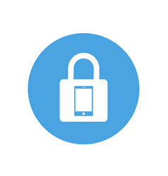 lock icon padlock sign phone vector image