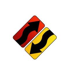 Logo with arrows vector image vector image