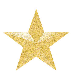 Macro gold holiday star isolated on white vector