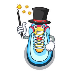 Magician sneaker mascot cartoon style vector