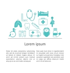 Medical icons with text vector image