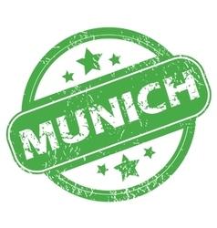 Munich green stamp vector