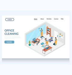 office cleaning website landing page design vector image