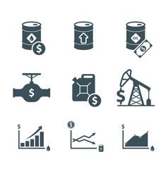 Oil price icon set vector