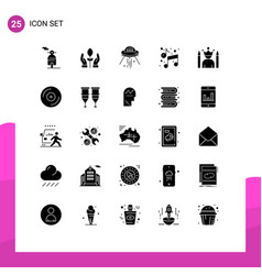 Pictograph set 25 simple solid glyphs idol vector