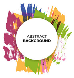 Poster background paint brush watercolor vector