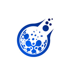 related circles shape logo new technology symbol vector image