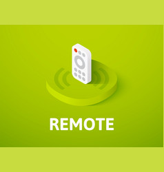 remote isometric icon isolated on color vector image