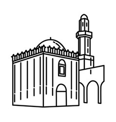 sana a mosque in yemen icon doodle hand drawn vector image