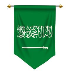 saudi arabia pennant vector image
