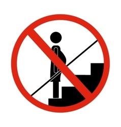 Security on escalators design vector image