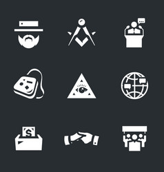 Set of religious community icons vector