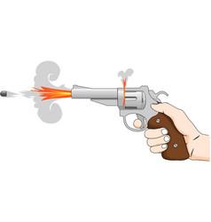 shot of a revolver vector image