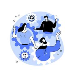 Social role abstract concept vector