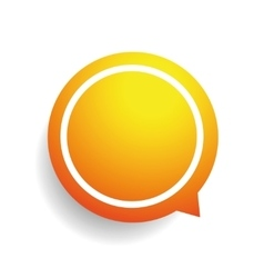 Speech bubble orange vector image