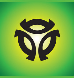 sphere logo design vector image