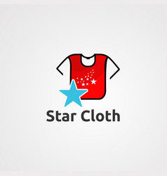 star cloth logo icon element and template for vector image