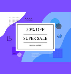 super sale 50 off promo coupon special offer vector image