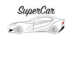 Supercar vector
