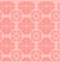 textured geometrical shapes repeat pattern vector image