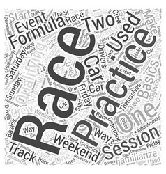 The Basics of Formula One Racing Word Cloud vector image
