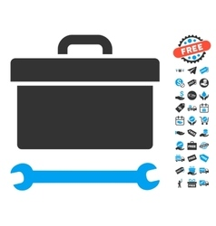 Toolbox Icon With Free Bonus vector