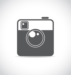 Trendy camera icon vector image
