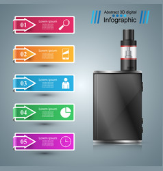 Vape vaper smoke - business infographic vector